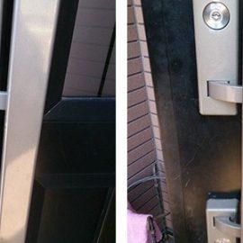 戸建て玄関ドアの鍵交換