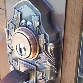 玄関のサムラッチ錠を交換 古代ケースロック|川崎市宮前区野川