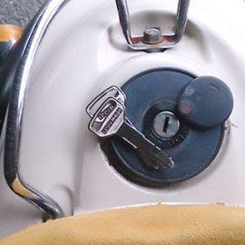 バイクのメットインとタンクの鍵作成|千葉市稲毛区宮野木町