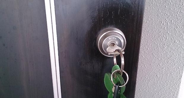 玄関の鍵抜き