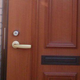 玄関の鍵開け作業とGOALの鍵に交換|越谷市蒲生旭町