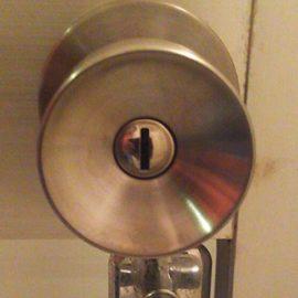 錆びた浴室ドアノブの交換 八千代市八千代台南