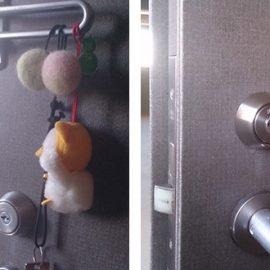 玄関の室内側の鍵を交換