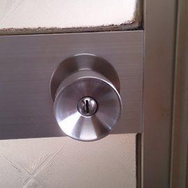 浴室錠の交換