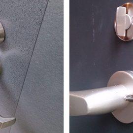 マンション玄関のドアレバーの修理|川口市赤井