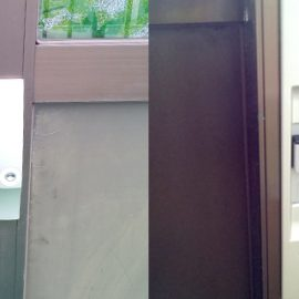 玄関引き違い戸の鍵をMIWAの防犯性の高い錠前に交換|日野市南平