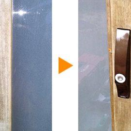 引き戸錠の交換