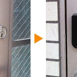 会社の入り口の鍵を電子錠へ交換|佐倉市上座