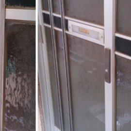 上尾市本町で玄関の引き戸の鍵を交換