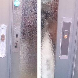 引き戸玄関ドアの鍵交換|新座市石神