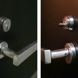 ラッチの開錠と錠前交換