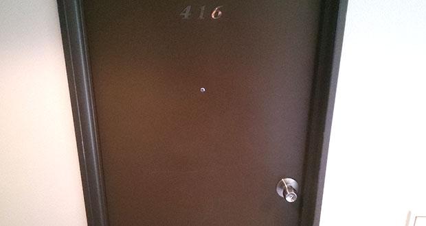 閉まらない客室ドア