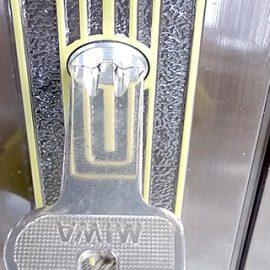MIWAのU9が付いた玄関ドア