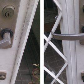 玄関の鍵交換前後