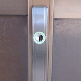 鍵を開け閉め出来なくなった引き戸の鍵交換|堺市南区原山台