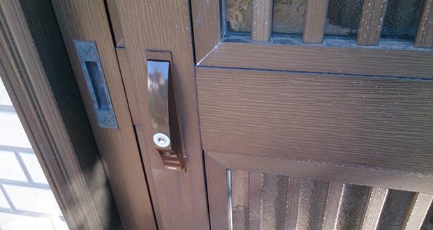 MIWAのPS-SL09に取り替えた玄関ドア