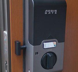 家の鍵を紛失して玄関の鍵を電子錠に交換|松原市高見の里