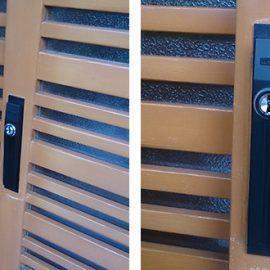 玄関引き戸の鍵交換|富田林市桜井町