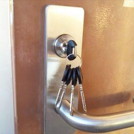 合鍵を誰かに複製された可能性があるため交換