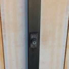古い門扉の鍵を新しい形式のものに交換|葛飾区東堀切