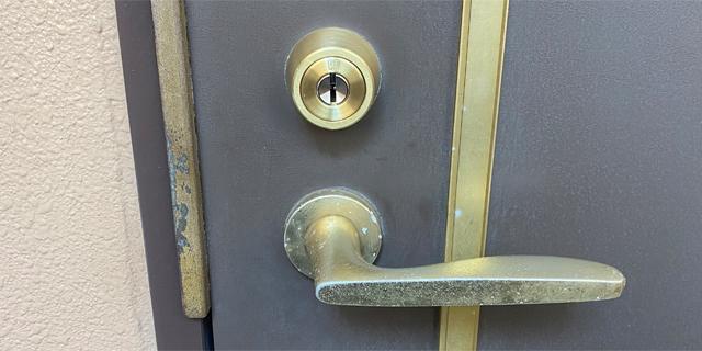 交換した玄関の鍵