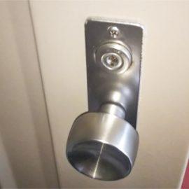 玄関扉の鍵を盗まれた可能性があるため交換|高槻市芥川町
