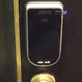 玄関の鍵をイージスゲートに交換