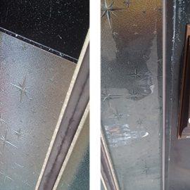 施錠しづらい引き戸の召し合わせ錠を交換|京都市右京区嵯峨野嵯峨ノ段町